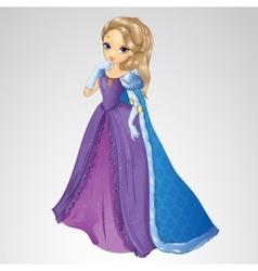 Beautiful Queen In Blue Mantle vector image vector image
