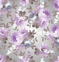 Beautiful Vintage floral pattern with roses vector image