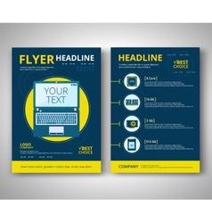 Flyer design vector image