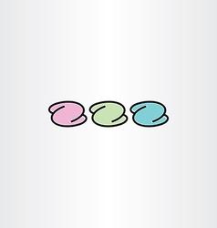 Number 2 or letter z icon symbol design element vector