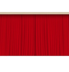 Scene with isolated red curtains vector
