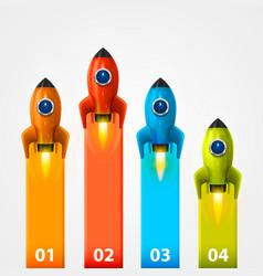 space rocket launch info vector image