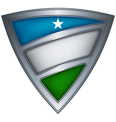 Steel shield with flag puntland vector