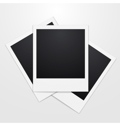 a realistic instant Photo vector image