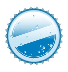 bottle blue cap vector image