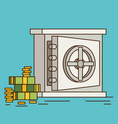 Eps10 flat concept safe with money vector