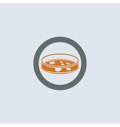 Gray-orange Petri Dish Round Icon vector image vector image