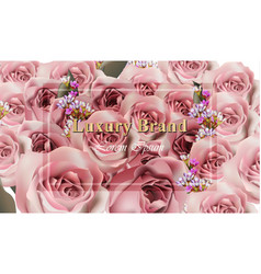 luxury roses background realistic rose and vector image vector image