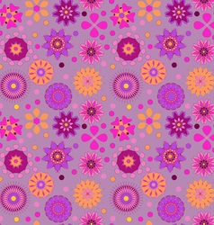 seamless background with delicate colored flowers vector image vector image