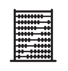 abacus icon on white background flat style vector image