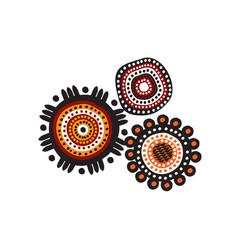 Aboriginal art dots paining icon logo design vector