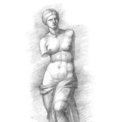 Aphrodite of milos - venus - vintage vector