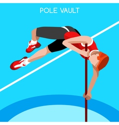 Athletics Pole Vault 2016 Summer Games 3D vector