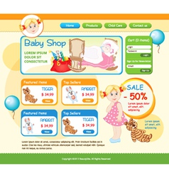 Baby Shop web template vector image