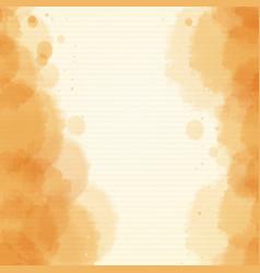 Background design with watercolor in orange vector