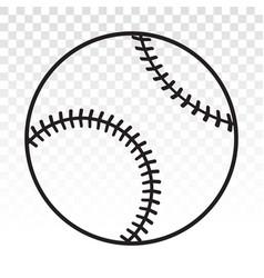 Baseball ball line art icon for sports apps vector