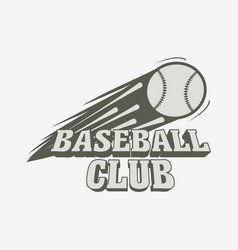 Baseball logo badge or label template baseball vector