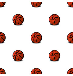 basketball balls sports seamless pattern modern vector image