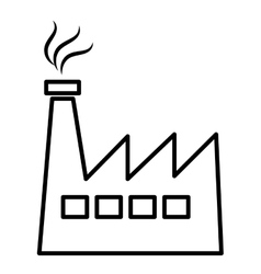 Black and white industrial plant graphic vector