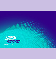 blue background with halftone dots pattern design vector image