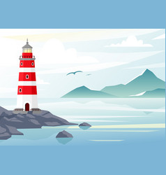 blue sea background vector image