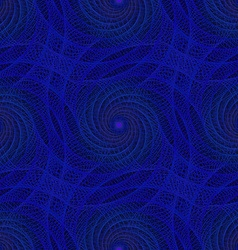 Blue seamless fractal spiral pattern background vector