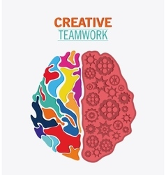 Brain of Creative teamwork concept vector
