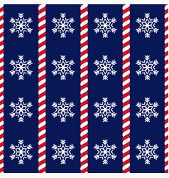 Candy canes and snowflake background vector