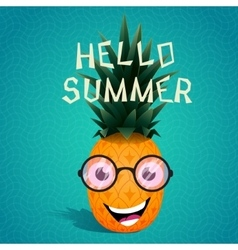 cheerful pineapple in sunglasses vector image