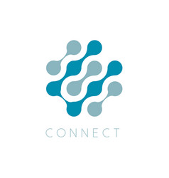 circles icon globe connect businesslogo vector image