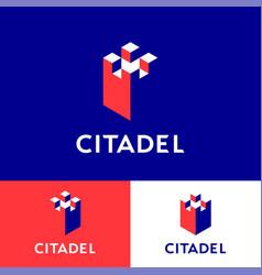 Citadel logo insurance agency walls vector