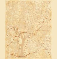 city map washington dc district columbia us vector image