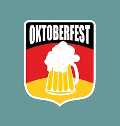 Coat of arms of Oktoberfest Flag of Germany and a vector image vector image