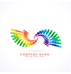 Colorful infinity style logo concept vector