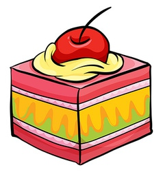 Colourful piece of cake vector