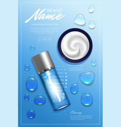 design advertising poster for cosmetic product for vector image