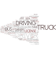 driver word cloud concept vector image