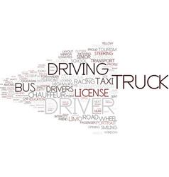 Driver word cloud concept vector