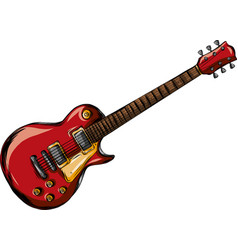 Electric guitar flat rock vector