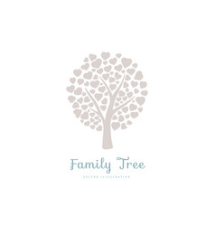 Family tree with hearts vector