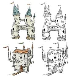 Fantasy castles vector