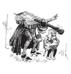 fiddler and jack horner vintage vector image