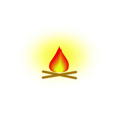 fire of icon vector image
