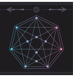 Geometric icon magic 3 vector