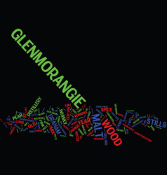 Glenmorangie scotish whisky text background word vector