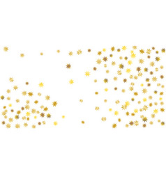 golden casual confetti background vector image