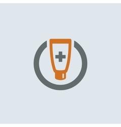 Gray-orange Ointment Round Icon vector