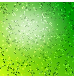 Green star background vector image