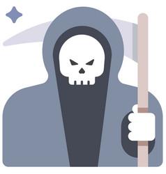 Grim reaper flat vector