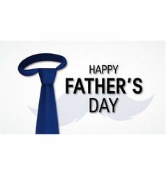 happy fathers day concept in flat style vector image
